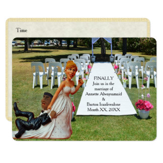 Finally Getting Wed Funny Interracial Couple Card