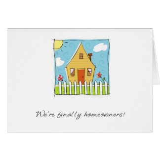 finally homeowners card