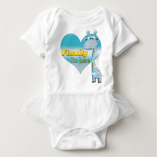 finally I'm Here - baby shower Baby Bodysuit