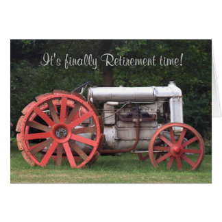 Finally Retirement Time Card with Antique Tractor Cards