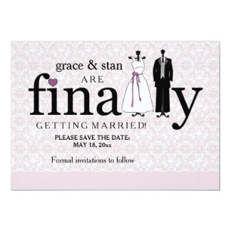 Finally Save the Date Announcement