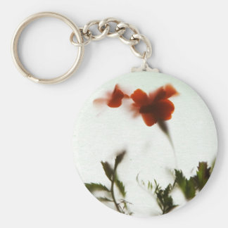 Finally spring! basic round button key ring