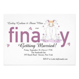 Finally Two Brides Wedding Invitation