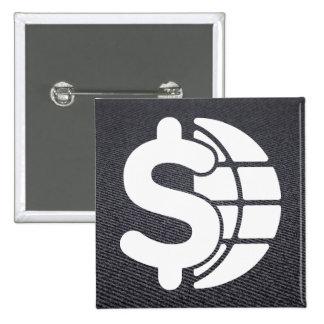 Finance Dollars Minimal 15 Cm Square Badge