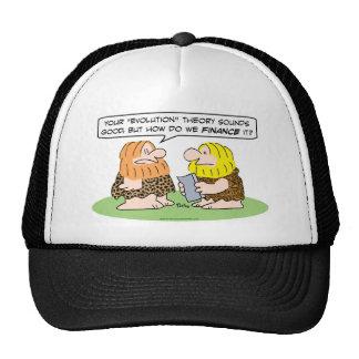 finance evolution caveman cavemen mesh hats