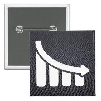 Finances Lowers Minimal 15 Cm Square Badge