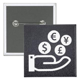 Finances Pictogram 15 Cm Square Badge
