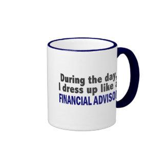 Financial Advisor During The Day Ringer Mug