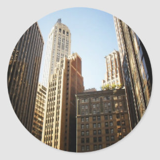 Financial District Skyscrapers, New York City Round Sticker
