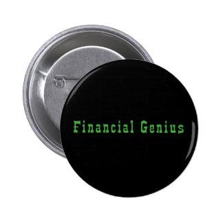 Financial Genius 6 Cm Round Badge