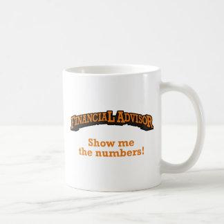 Financial / Numbers Basic White Mug