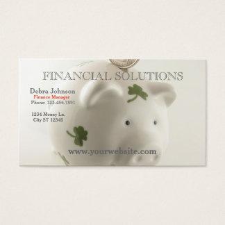 Financial Solutions Lucky Piggy Bank Business Card