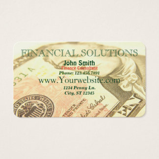Financial Solutions Money Business Card