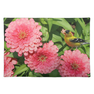 Finch and Flowers Placemat