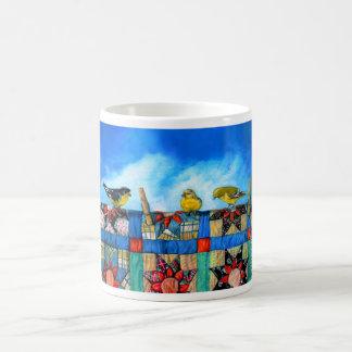 finches n fabric 11 x 14 for 16 x 20 coffee mug
