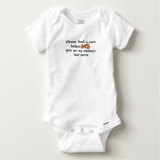 Find A Cure Before MS Gets On Mommy's Last Nerve Baby Onesie