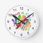 Find A Cure Colourful Cancer Ribbons Clock