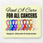 Find a Cure Ribbons For All Cancers Mousemat