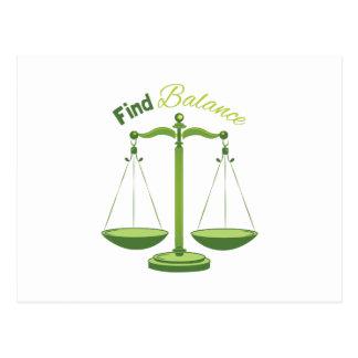 Find Balance Post Cards