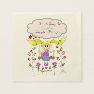 Find Joy in Simple Things Disposable Napkin