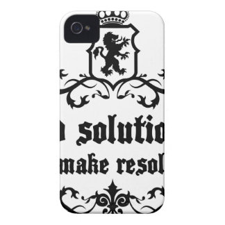 Find Solutions Donn't make Resolutions iPhone 4 Cases
