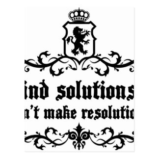 Find Solutions Donn't make Resolutions Postcard