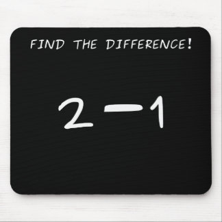 Find the difference! 2 minus 1 mouse pad