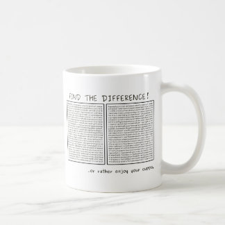 Find the difference! or do something meaningful basic white mug