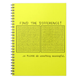 Find the difference! or do something meaningful notebook