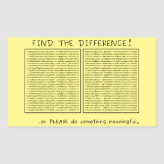 Find the difference! or do something meaningful rectangular sticker