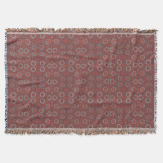 Find the Rabbit, rustic pattern, gray & terracotta Throw Blanket