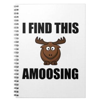 Find This Amoosing Moose Note Book