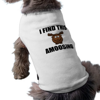 Find This Amoosing Moose Sleeveless Dog Shirt