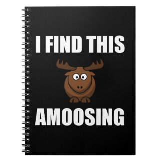 Find This Amoosing Moose Spiral Notebook