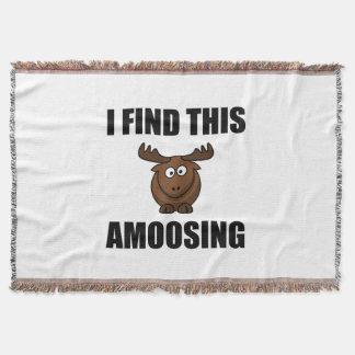 Find This Amoosing Moose Throw Blanket