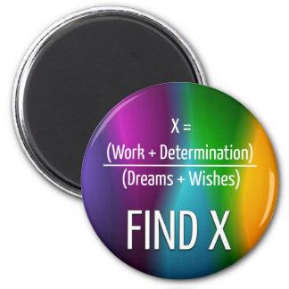 Find X 6 Cm Round Magnet