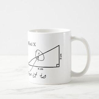 Find X funny Math Test Coffee Mug