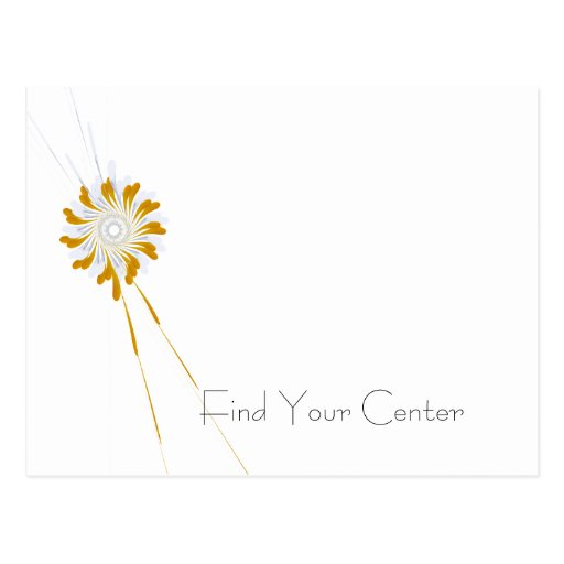 Find Your center Appointment Postcard