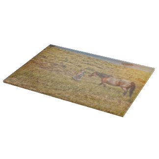 Find Your Peace Cowgirl Cutting Board
