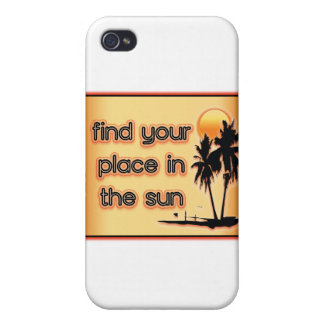 Find Your Place In The Sun Covers For iPhone 4