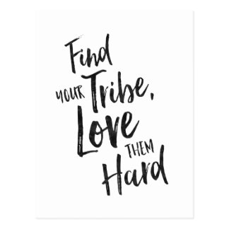 Find Your Tribe - Inspirational Card Postcard