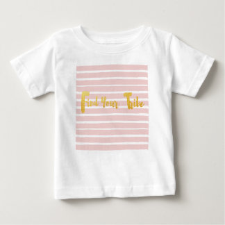 find-your-tribe-pink-stripe. baby T-Shirt