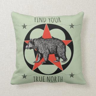 Find Your True North Bear Cushion