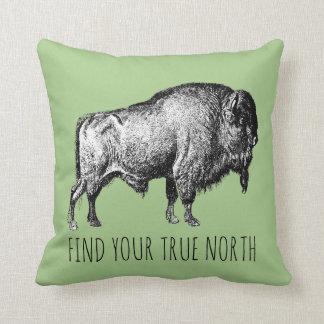 Find Your True North Buffalo Cushion