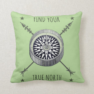 Find Your True North Compass And Arrows Cushion