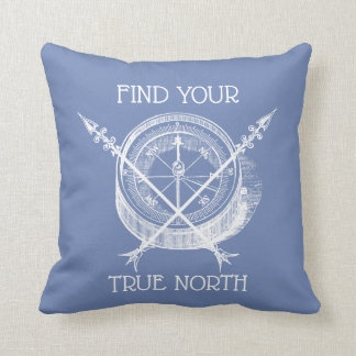 Find Your true North Crossed Arrows And Compass Cushion