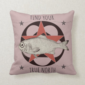 Find Your True North Fish Cushion