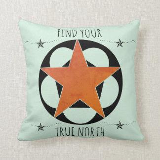 Find Your True North Star Cushion