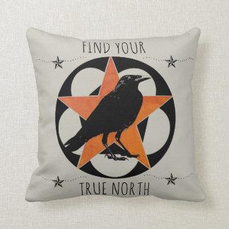 Find Your True North Star Raven Cushion