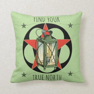 Find Your True North Vintage Lantern Cushion